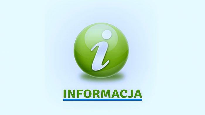 """ilustracja przedstawia logo z literÄ… """"i"""" oraz napis """"informacja"""""""