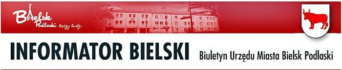 """Winieta czasopisma z napisem """"Informator Bielski. Biuletyn UrzÄ™du Miasta Bielsk Podlaski"""""""