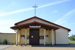 ilustracja przedstawia kościół pod wezwaniem Najświętszej Opatrzności Bożej