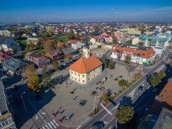 ilustracja przedstawia śródmieście Bielska Podlaskiego